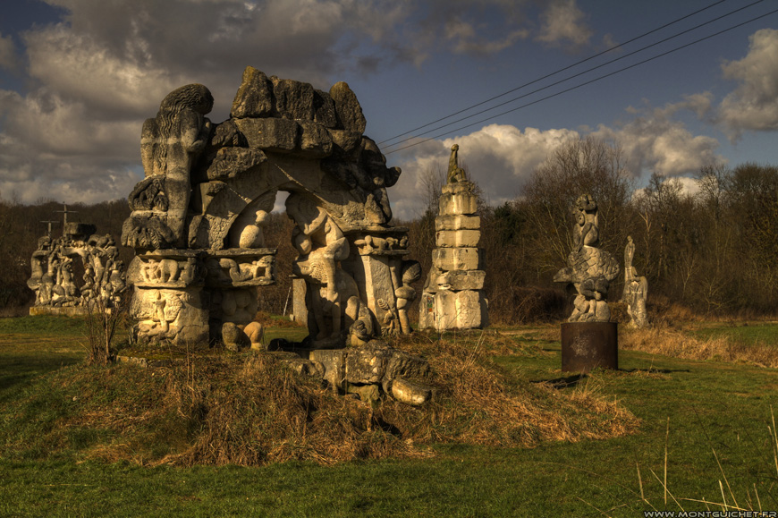 aqueduc de la dhuis jardin des sculptures de la dhuys les abbesses de gagny chelles. Black Bedroom Furniture Sets. Home Design Ideas