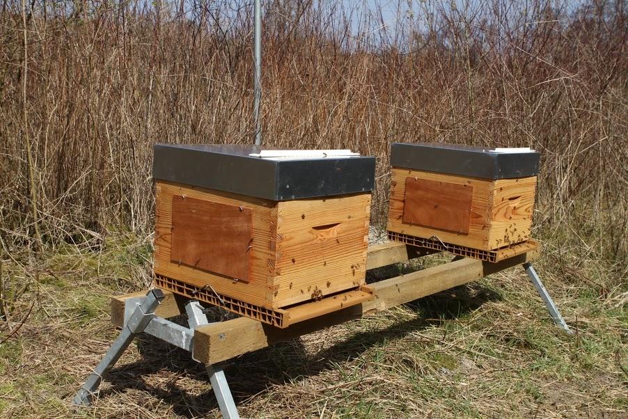 installer une ruche lapiculteur nicolas geant travaille le mai sur les toits du grand with. Black Bedroom Furniture Sets. Home Design Ideas